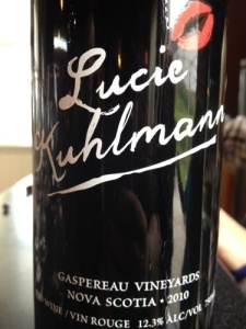 Lucie Kuhlmann 2010 by Gaspereau Vineyards