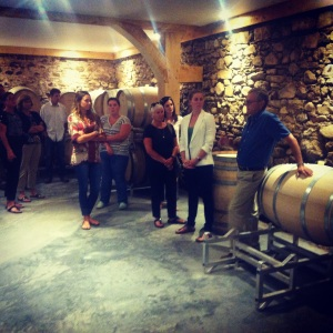 A tour before tasting. John shows us the cellar of his newly opened Planter's Ridge.